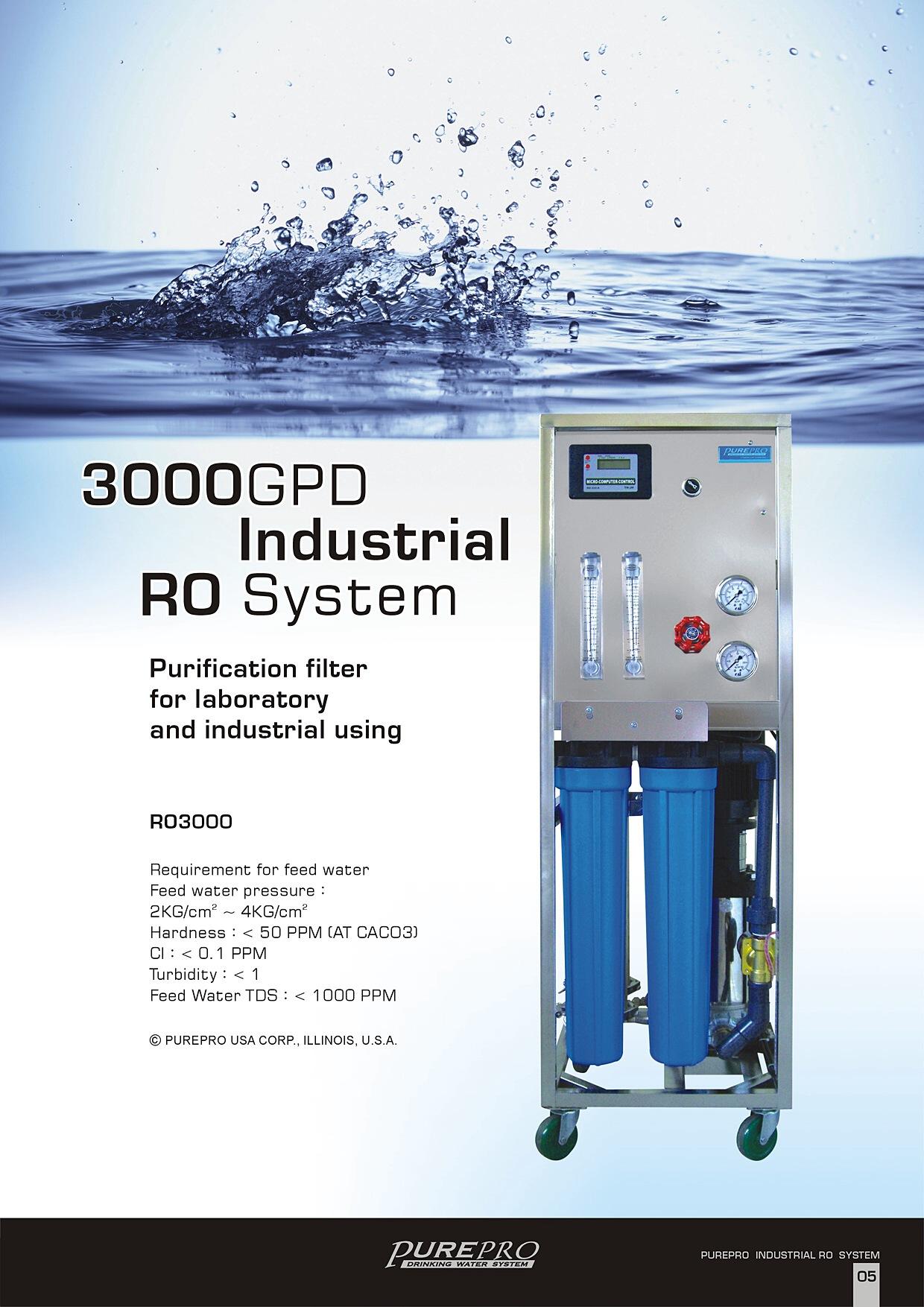 Purepro 174 Ro3000 Reverse Osmosis System