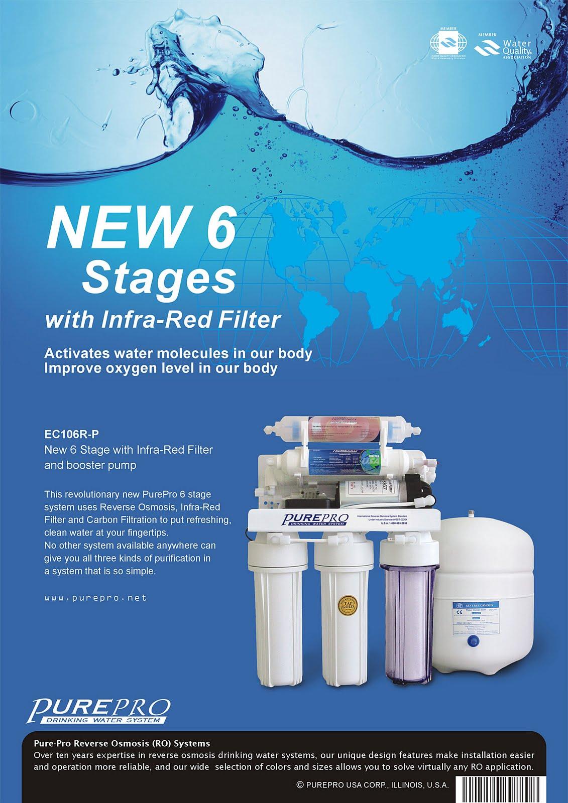 Home Water Filter >> PurePro® EC106R-P / EC-106R-P Reverse Osmosis Water Filter